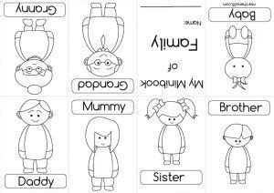 el blog de espe mini book  mini books family worksheet