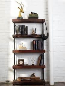 Industrial Bookcases by Rustic Industrial Style Bookshelf Decoist