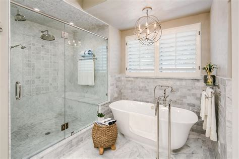 Spa Like Bathroom Pictures by Spa Like Bathroom Features Luxurious Marble Hgtv