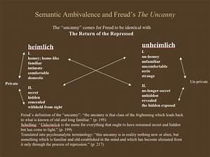 Freud   U0026quot The Uncanny U0026quot