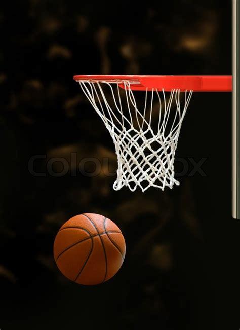 basketball board  basketball ball  black background