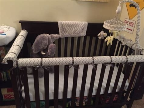 diy crib rail cover walk with the diy no sew crib teething rail