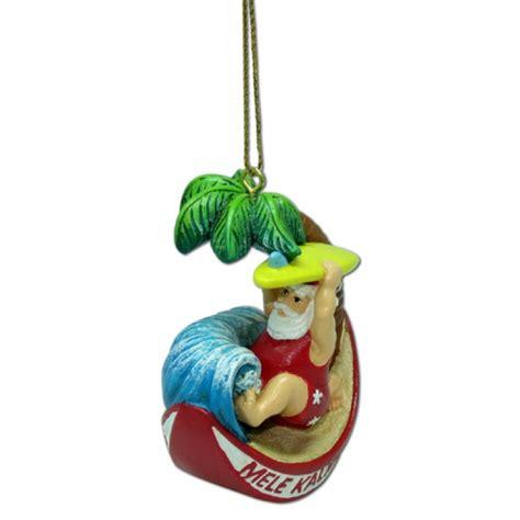 hawaiian hawaii design island christmas ornament santa