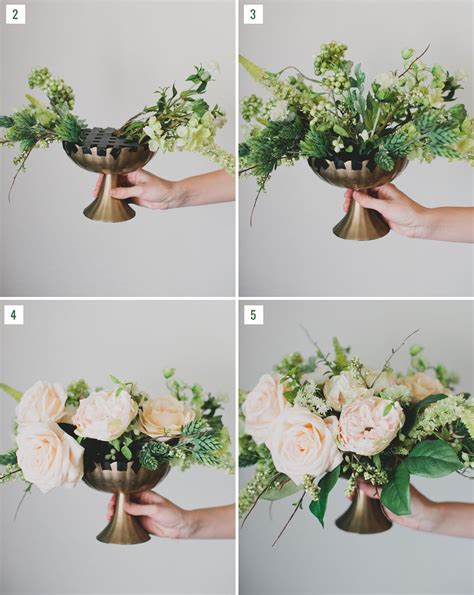diy silk flower centerpiece diy wedding hochzeit
