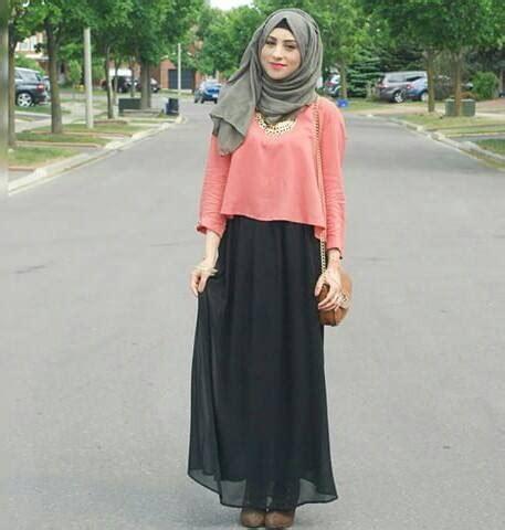 loose crop top  skirt hijab fashion hijab
