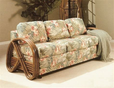 Wicker Sofa Sleeper by Kauai Rattan Sofa Sleeper Kozy Kingdom