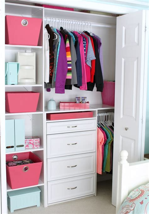 Closet Ideas by Small Reach In Closet Organization Ideas The Happy Housie