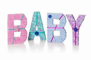 homemade baby shower decorations lovetoknow With baby letter