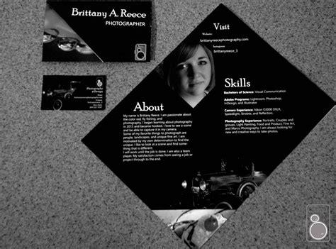 creative resume handout reece photography