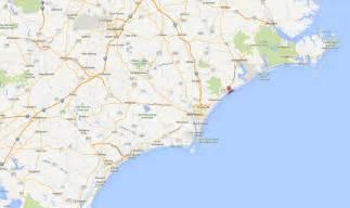 Surf City Topsail Island Map for North Carolina
