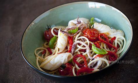 recette seiche po 234 l 233 e p 226 tes aux poivrons confits et tomate bien de chez nous