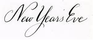 years eve calligraphy handwritten life