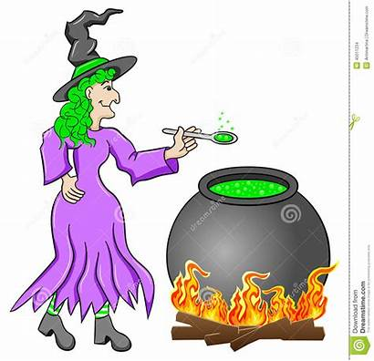 Potion Witch Magic Cooking Cauldron Illustration Vector