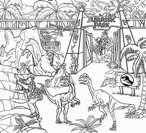 Coloring Jurassic World by Jurassic World Coloring Pages Free Printing 27 Free