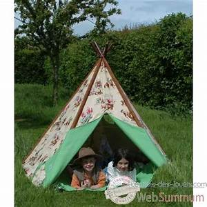Tente Enfant Exterieur : tipi tente pour enfant cow boy the old basket 51001 dans tente et tipi ~ Farleysfitness.com Idées de Décoration