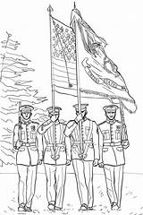 Guard Coloring Memorial Pages Printable Categories Veterans Flag Memoria Coloringonly sketch template