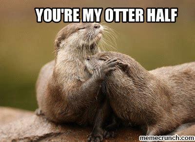 Otter Love Meme - you re my otter half