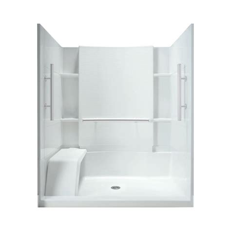 sit shower enclosures sterling accord 36 in x 60 in x 74 1 2 in shower kit