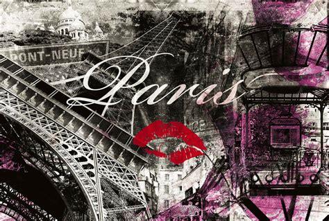 theme pour chambre en poster mural urbain et parisien en mode patchwork