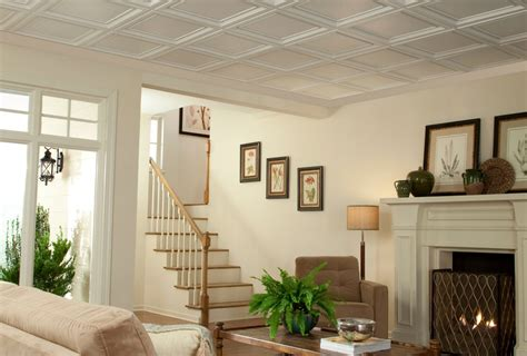 Suspended Coffered Ceiling by Coffered Ceiling Cost Ceilings Armstrong Residential