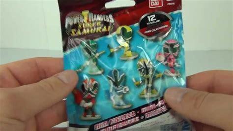 bandai power rangers super samurai mini figures series  blind bags toy review youtube