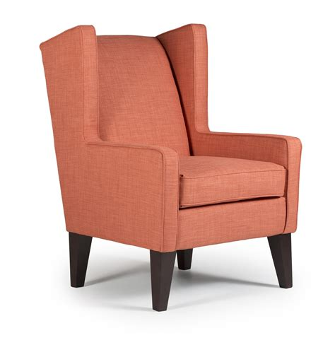 wingback chair karla modern wing chair by best home furnishings wolf
