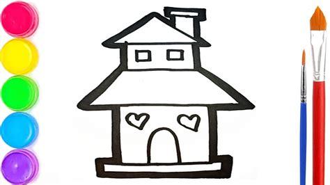 mewarnai rumah tingkat yang bagus gambar rumah untuk di