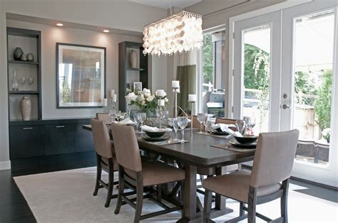 kilim runner contemporary decor grey dining room idea chandelier just