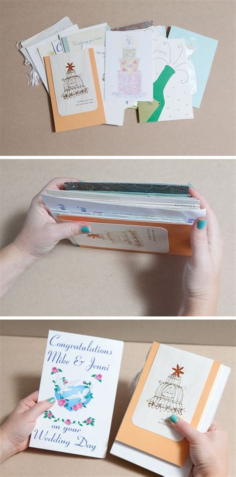 how to diy an adorable album to save special greeting