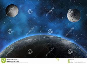 Planets In The Night Sky Stock Illustration - Image: 59215334
