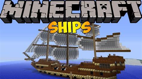 Imagenes De Barcos En Minecraft by Minecraft Mods Ships Mod 1 6 4 Youtube