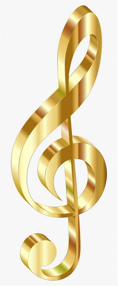 Notes Note Gold Golden Clipart Background Transparent