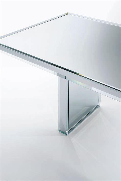 prism mirror table tables de repas de glas italia