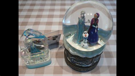 frozen elsa anna snow globe singing musical christmas