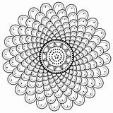 Mandala Coloring Pages Printable Spiral Sheet Designs Moon M110 Phases sketch template