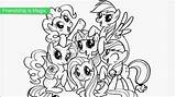 Pony Coloring Printable Colouring Ponies Mlp sketch template