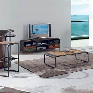 Meuble Tv Vintage : meuble tv vintage en bois de vieux bateaux recycl ~ Teatrodelosmanantiales.com Idées de Décoration