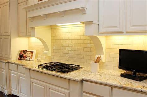 Yellow Backsplash Kitchen : Pale Yellow Subway Tile