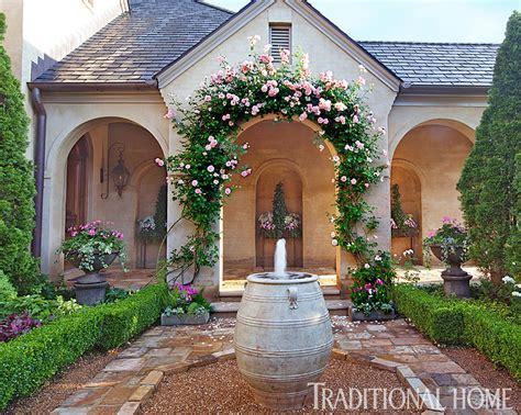 Picturesque Courtyard Garden picturesque courtyard garden traditional home