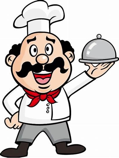 Waiter Clipart Serving Chef Royalty Illustration Transparent