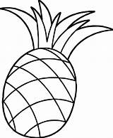 Pineapple Coloring Colouring Clipart Pages Cartoon Pineapples Drawing Fruit Pinapple Pine Apple Pumpkin Fruits Printable Wecoloringpage sketch template