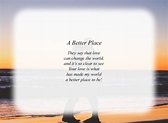 A Better Place - Free Love Poems