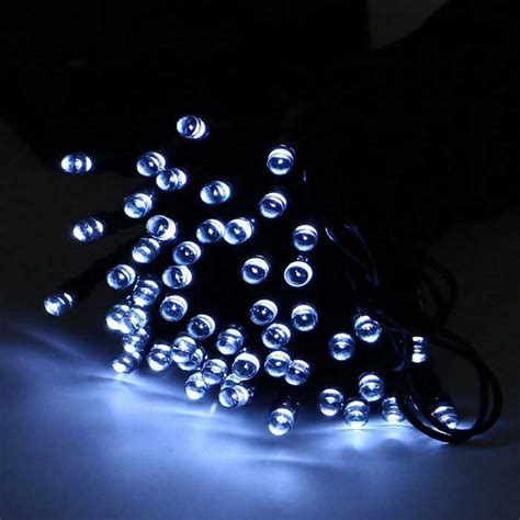 solar powered decorative twinkle led light string white