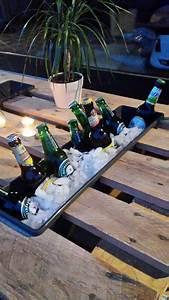 paletten tisch terasse mit selbstgebautem flaschenhalter With katzennetz balkon mit essential garden parfum