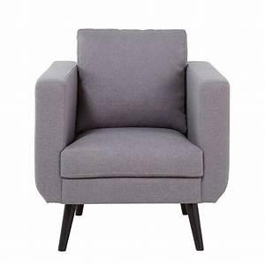 Tissu Gris Chiné : fauteuil en tissu gris clair chin noa maisons du monde ~ Teatrodelosmanantiales.com Idées de Décoration
