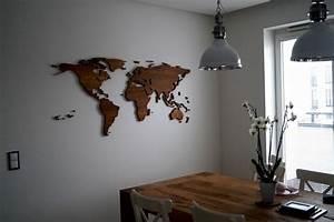 Weltkarte Bild Holz : weiteres holz weltkarte eiche ein designerst ck von ~ Lateststills.com Haus und Dekorationen
