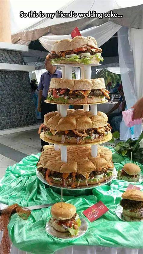 Epic Burger Wedding Cake