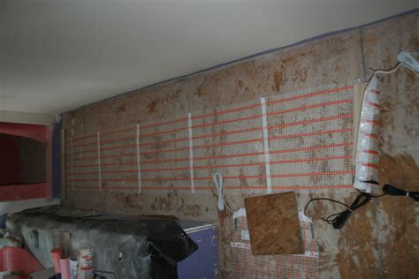 how to install electric radiant floor heating tile