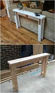 50 diy home decor and furniture projects you can make from for Homemade 2x4 furniture