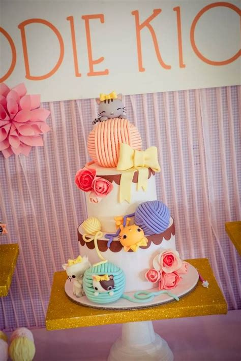 Jodie's Vintage Kitty Cat Themed Party  1st Birthday